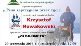 """""""23 kilometr"""" Krzysztofa Nowakowskiego już wkrótce w tucholskiej MBP!"""