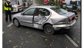 Groźne zdarzenie drogowe na drodze wojewódzkiej, ponownie w rejonie skrzyżowania Raciąż – Piastoszyn