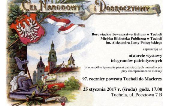 Wystawa z okazji 97. rocznicy powrotu Tucholi do Macierzy