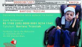 DRAMATYCZNA SYTUACJA RODZINY!  WSPÓLNIE RATUJMY ŻYCIE BARTUSIA!