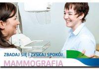 Bezpłatne badania mammograficzne w Lubiewie!