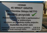 Listy od Czytelników. Skandal na parkingu NETTO w Tucholi, czyli…, jak obsługa parkingu marketu poluje na klientów!