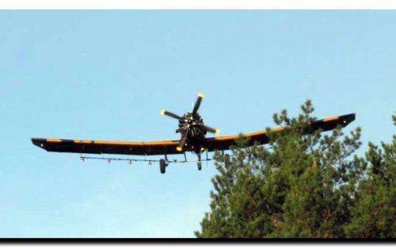 Na terenie Nadleśnictwa Woziwoda DROMADER dokonuje oprysków z powietrza. Obowiązuje zakaz wstępu do lasów!
