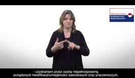 PRACA-INTEGRACJA – podniesienie wskaźnika zatrudnienia osób niepełnosprawnych (mat. w języku migowym)