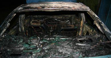 Zatrzymano trzech sprawców podpalenia VOLVO, GROZI IM 5 LAT WIĘZIENIA!