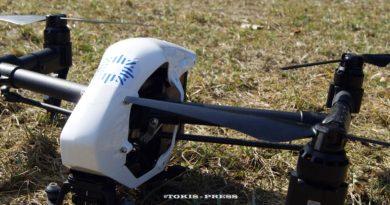 Chrzest bojowy drona tucholskiej policji, podczas wypadku w Piastoszynie