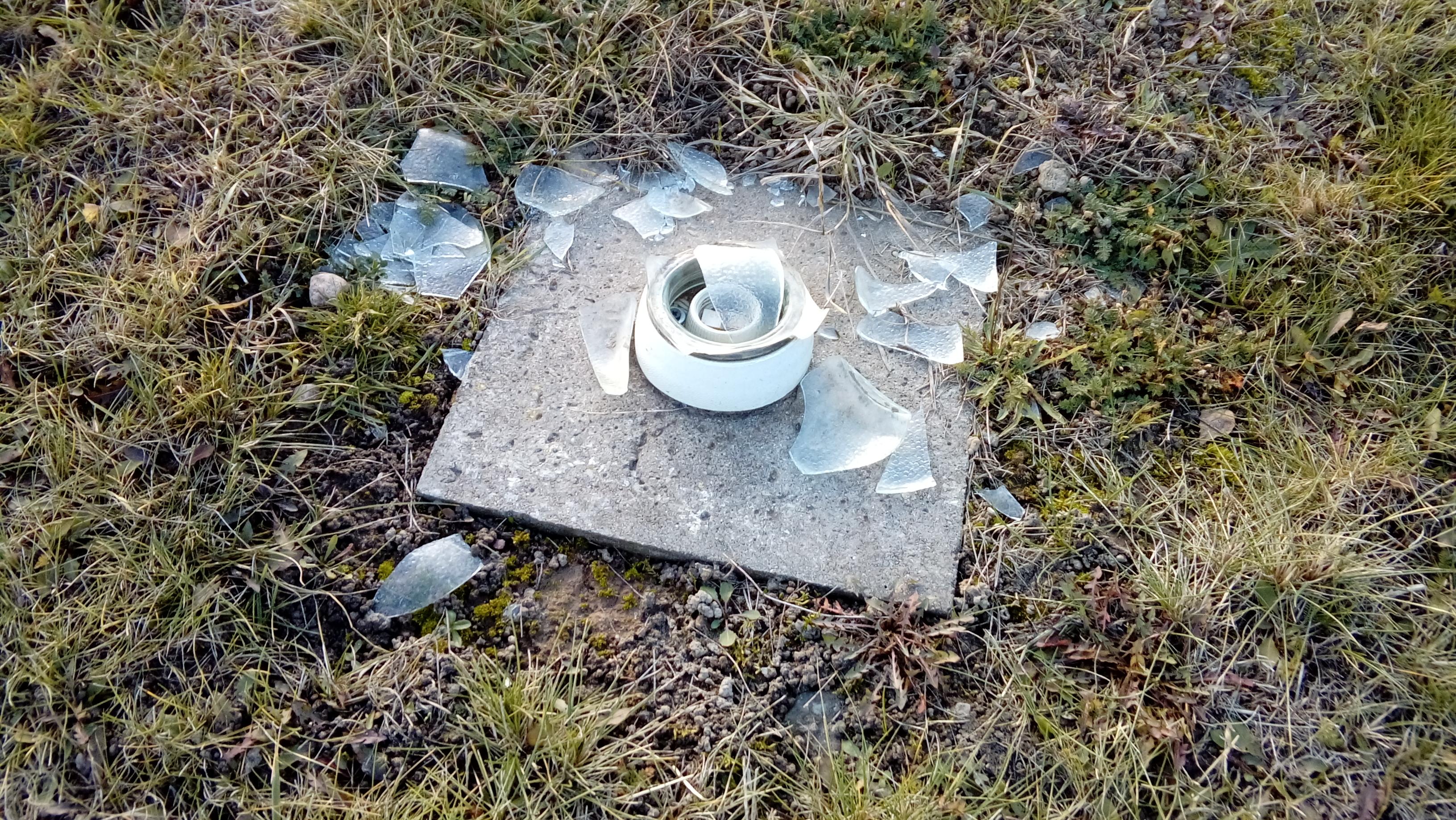 Lądowisko dla śmigłowców sanitarnych w Tucholi ponownie zdemolowano!!!