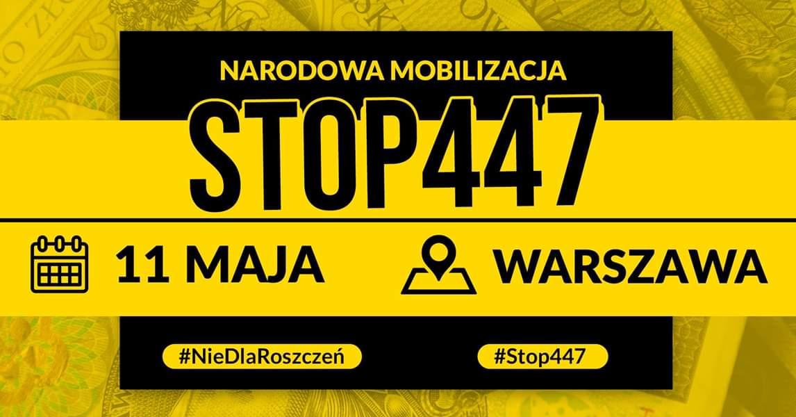 Polityczne maski opadły, wreszcie wiemy o co chodzi, czyli wielki protest w Warszawie w sprawie ustawy 447 Just