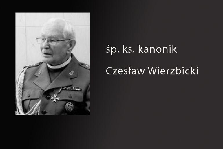 Zmarł ks. kanonik Czesław Wierzbicki